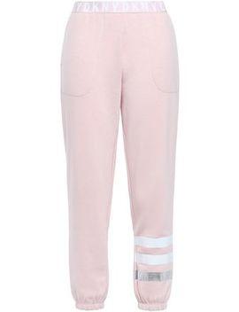 Metallic Trimmed Fleece Pajama Pants by Dkny