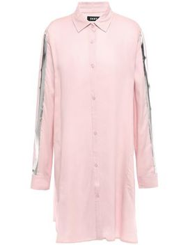 Metallic Trimmed Woven Nightshirt by Dkny