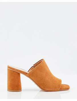 Italian Made Suede Open Toe Slide Sandal by Le Chateau