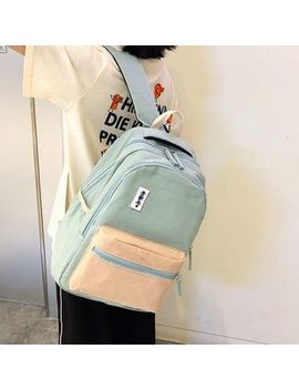 Glorieta   Color Block Canvas Backpack by Glorieta