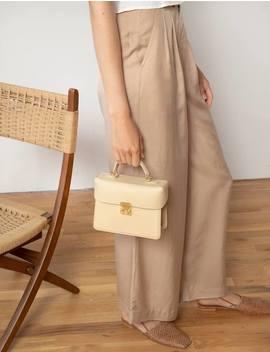 Vanilla Leather Boxy Mini Bag by Pixie Market