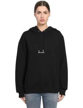 Sweatshirt Aus Baumwolle Mit Kapuze Und Logodetail by Saint Laurent