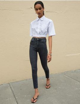 Richie Crop White Shirt by Pixie Market