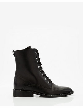Studded Leather Combat Boot by Le Chateau