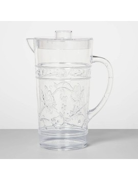 24oz Plastic Floral Embossed Beverage Pitcher   Opalhouse by Opalhouse