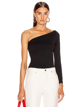 One Shoulder Tee by Helmut Lang
