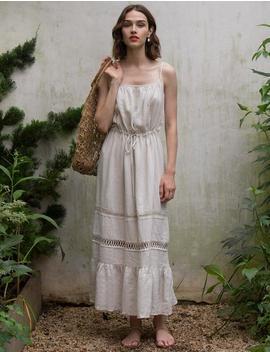 Oat Linen Maxi Dress by Pixie Market