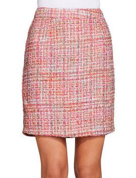 Tweed Back Zip Skirt by Boston Proper
