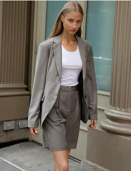 Grey Oversize Blazer by Pixie Market