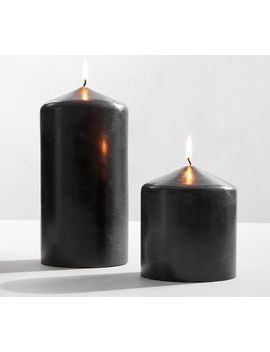 Black Pillar Candles by Pottery Barn