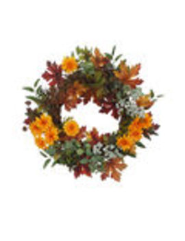 Blooming Autumn Daisy, Berry & Leaf Wreath    Blooming Autumn Daisy, Berry & Leaf Wreath by Blooming Autumn