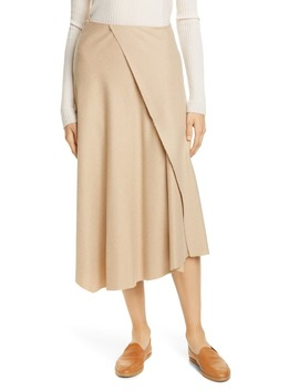 asymmetrical-drape-midi-skirt by vince