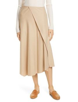 Asymmetrical Drape Midi Skirt by Vince