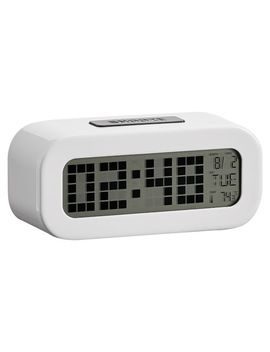 Rise And Shine Alarm Clock, White by P Bteen