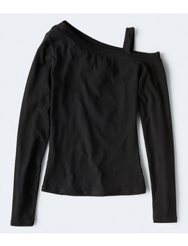 Long Sleeve Seriously Soft One Shoulder Bodycon Top by Aeropostale