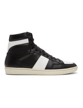Black &Amp; White Court Classic Sl/10 H Sneakers by Saint Laurent