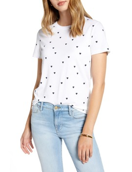 hearts-graphic-cotton-blend-tee by 1901