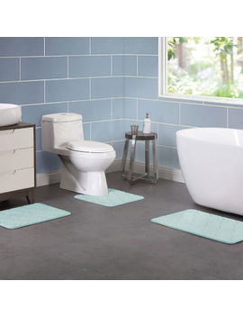 Vcny 3 Piece. Memory Foam Bath Rug Set by Vcny