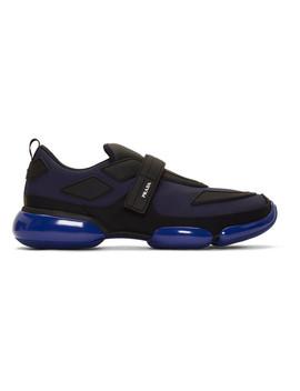 Navy Gabardine Cloudbust Sneakers by Prada