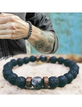 Men Bracelet Natural Moonstone Bead Tibetan Buddha Bracelet Chakra Lava Stone Diffuser Bracelets Men Jewelry Gift Drop Shipping by Ali Express.Com