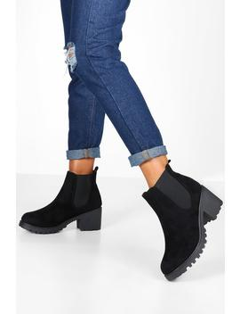 Cleated Chunky Chelsea Boots by Boohoo