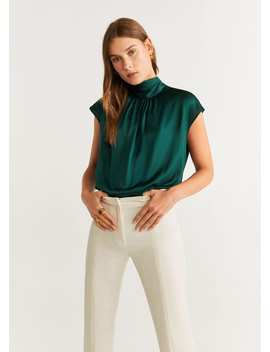 Top Met Strik Om De Hals by Mango