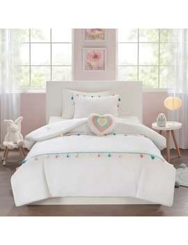 Mi Zone Kids Tanya White Tassel Comforter Set by Mi Zone