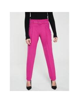 Pleat Front Belted Trouser by V By Very