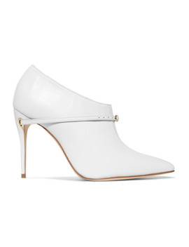 Fausto 105 Leather Ankle Boots by Jennifer Chamandi
