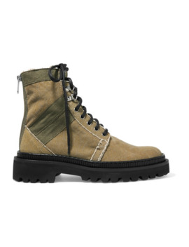 Ranger Canvas Ankle Boots by Balmain