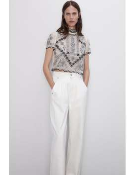 Limited Edition Embroidered Top View All Knitwear Woman by Zara