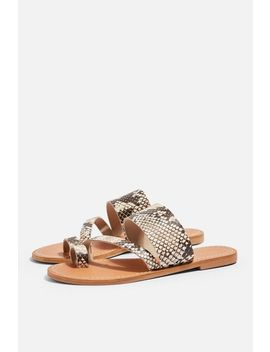 Honey Snake Flat Sandals by Topshop