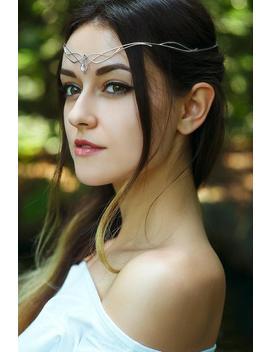 Keltische Sterling Silber Tiara   Omelia   Mit Regenbogen Mondstein Hochzeit Diadem Krone Elven Mittelalterliche Prinzessin Reif Elfen Wirewrap by Etsy