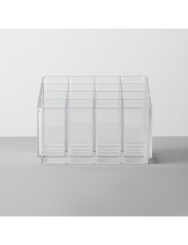 Bathroom Plastic 16 Slot Lipstick Organizer Clear   Made By Design by Made By Design