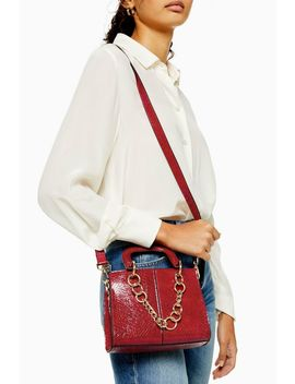 Case Red Mini Crocodile Cross Body Bag by Topshop