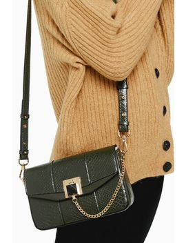 Crissy Green Chain Cross Body Bag by Topshop