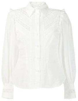 Skjorte Med Blondeindlæg by Zimmermann