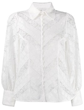 Blomstret Blondeskjorte by Zimmermann