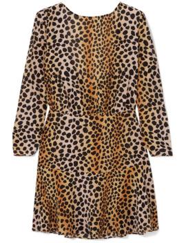 Kyla Leopard Print Silk Crepe De Chine Mini Dress by Rixo