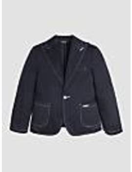 Jacket With Contrasting Stitching by Guess