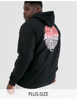 Friend Or Faux Plus Kamikaza Back Print Hoodie by Friend Or Faux