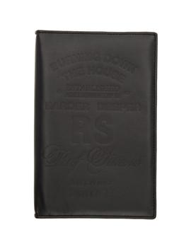 Black Big Zipped Wallet by Raf Simons