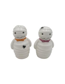 Maker's Halloween Ceramic Mummy Salt & Pepper Shakers    Maker's Halloween Ceramic Mummy Salt & Pepper Shakers by Maker's Halloween