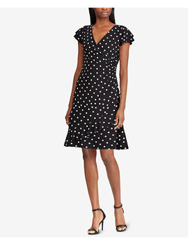 Polka Dot Ruched Jersey Dress by General