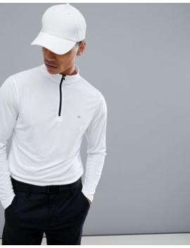 Calvin Klein – Golf Tech – Sweatshirt Mit Halblangem Reißverschluss In Weiß, C9304 by Asos