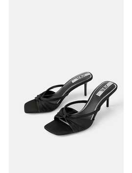 Pleated Mid Height Heeled Sandals View All Shoes Woman by Zara