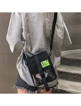 Shinescape   Applique Canvas Crossbody Bag by Shinescape