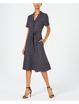 Belted Midi Shirtdress by General