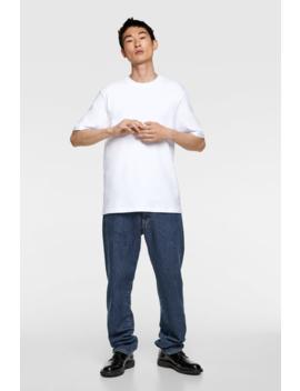 Basic Compact Cotton T Shirt Basics T Shirts Man by Zara