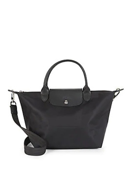 Top Zip Foldover Tab Shoulder Bag by Longchamp